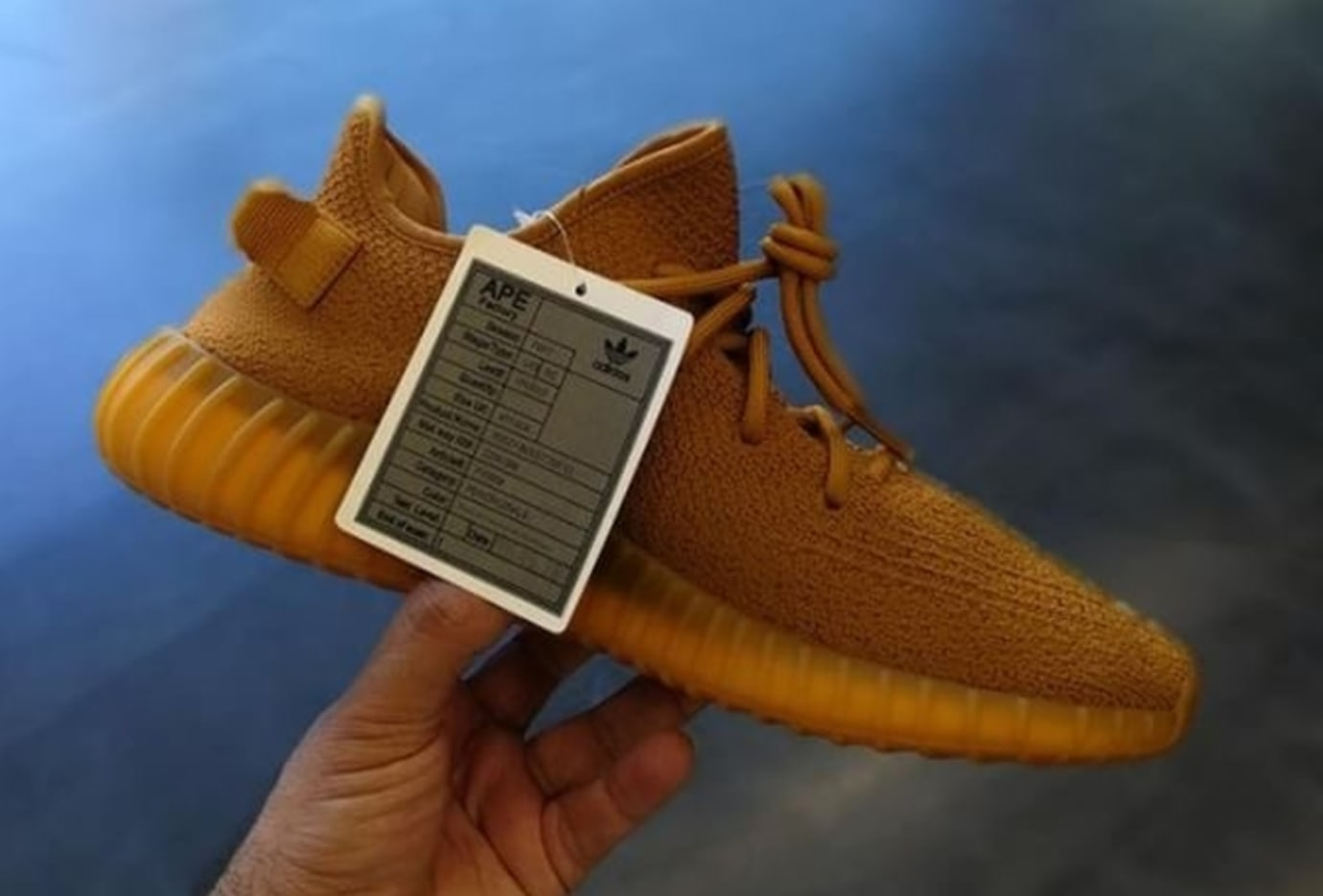 Gold Ochre Yeezy Boost