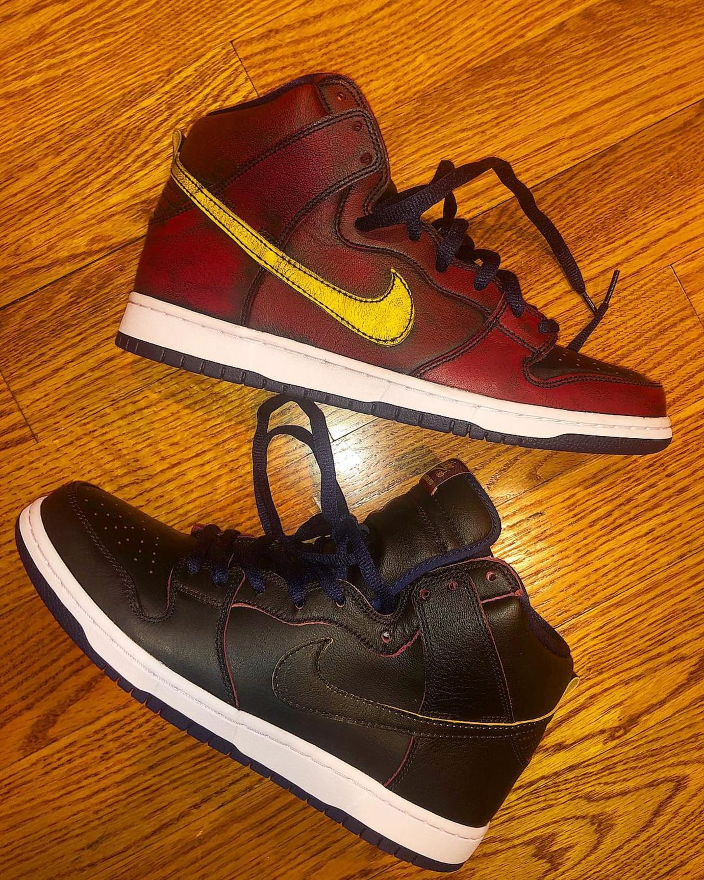NBA x Nike SB Dunk High 'Cleveland Cavaliers' (Without Paint)