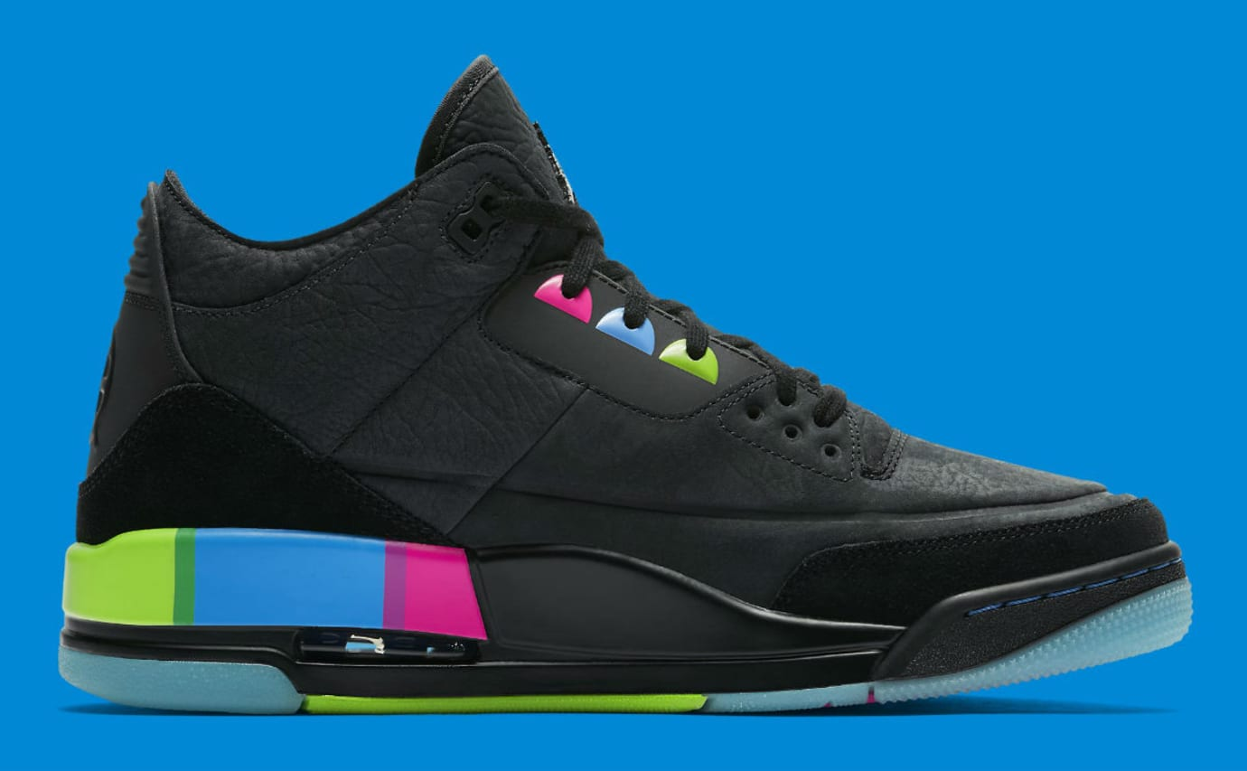 Air Jordan 3 III Quai 54 Release Date AT9195-001 Medial