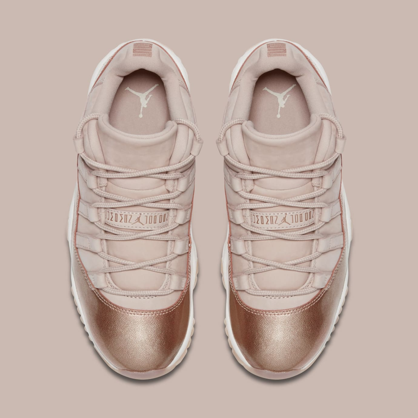 b8075c78e5d9 Image via Nike Air Jordan 11 Low  Rose Gold  AH7860-105 (Top)