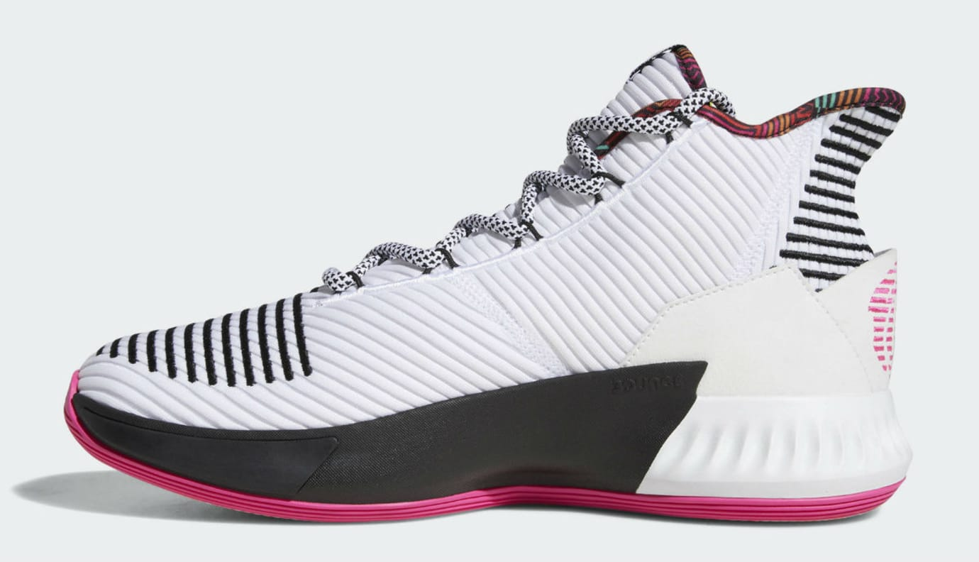 f464a0afad2 Image via Adidas Adidas D Rose 9 White Black Pink Release Date BB7658 Medial