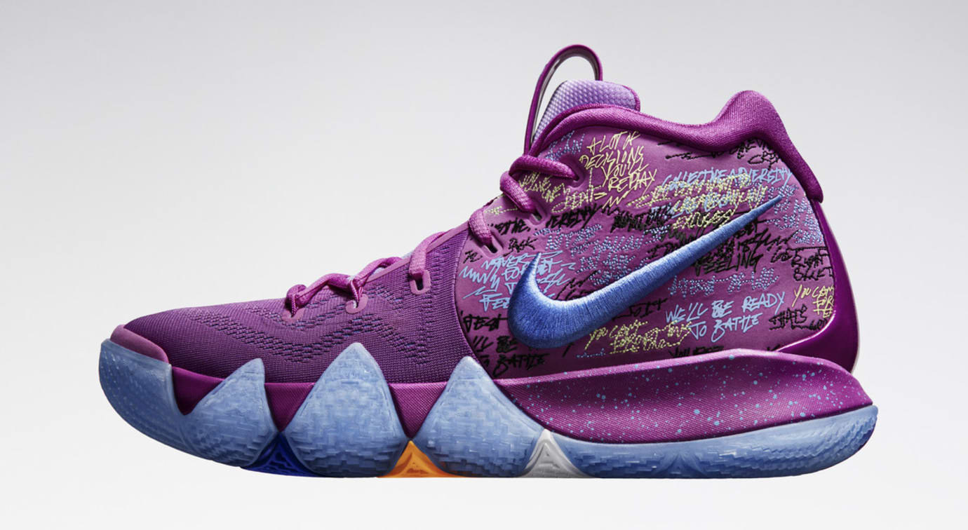 sneakers for cheap 099be a2f53 Image via Nike News · Nike Kyrie 4 Confetti Profile