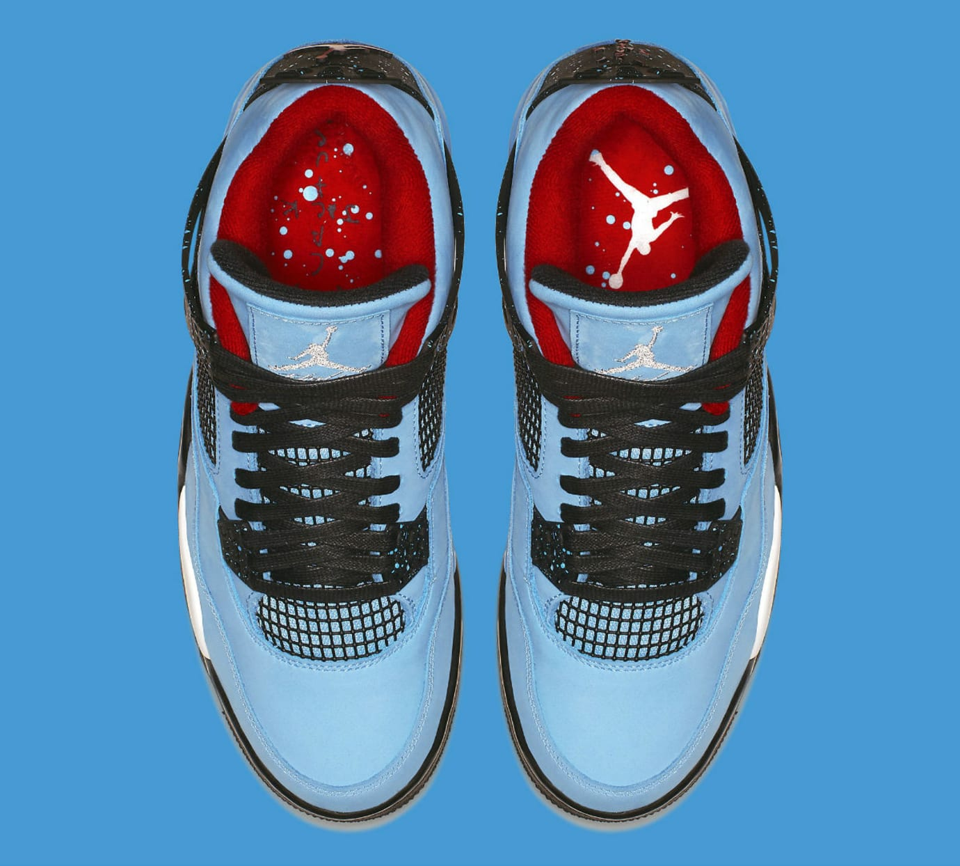 Travis Scott x Air Jordan 4 IV Oilers Release Date 308497-406 Top
