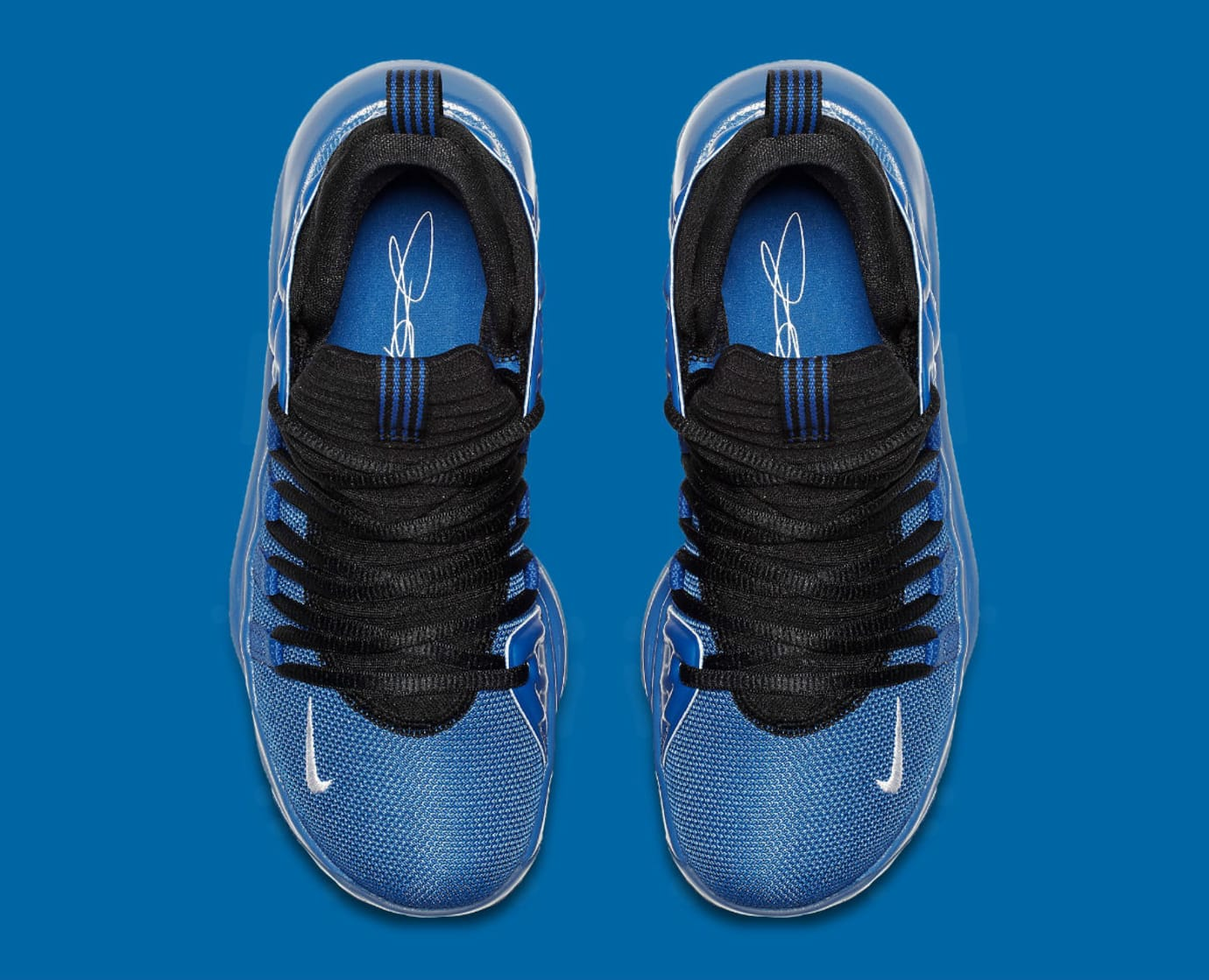 Nike KD 10 GS Foamposite Royal Release Date AJ7220-500 Top