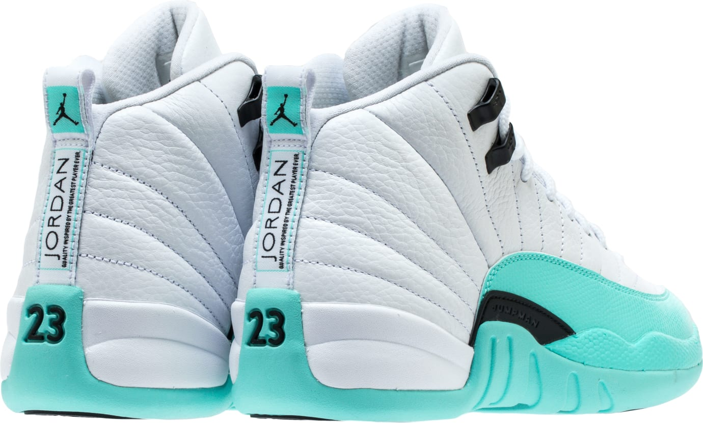8cf425073ba0a3 Image via Shoe Palace Air Jordan 12 XII Retro GG  White Light Aqua Black   510815-