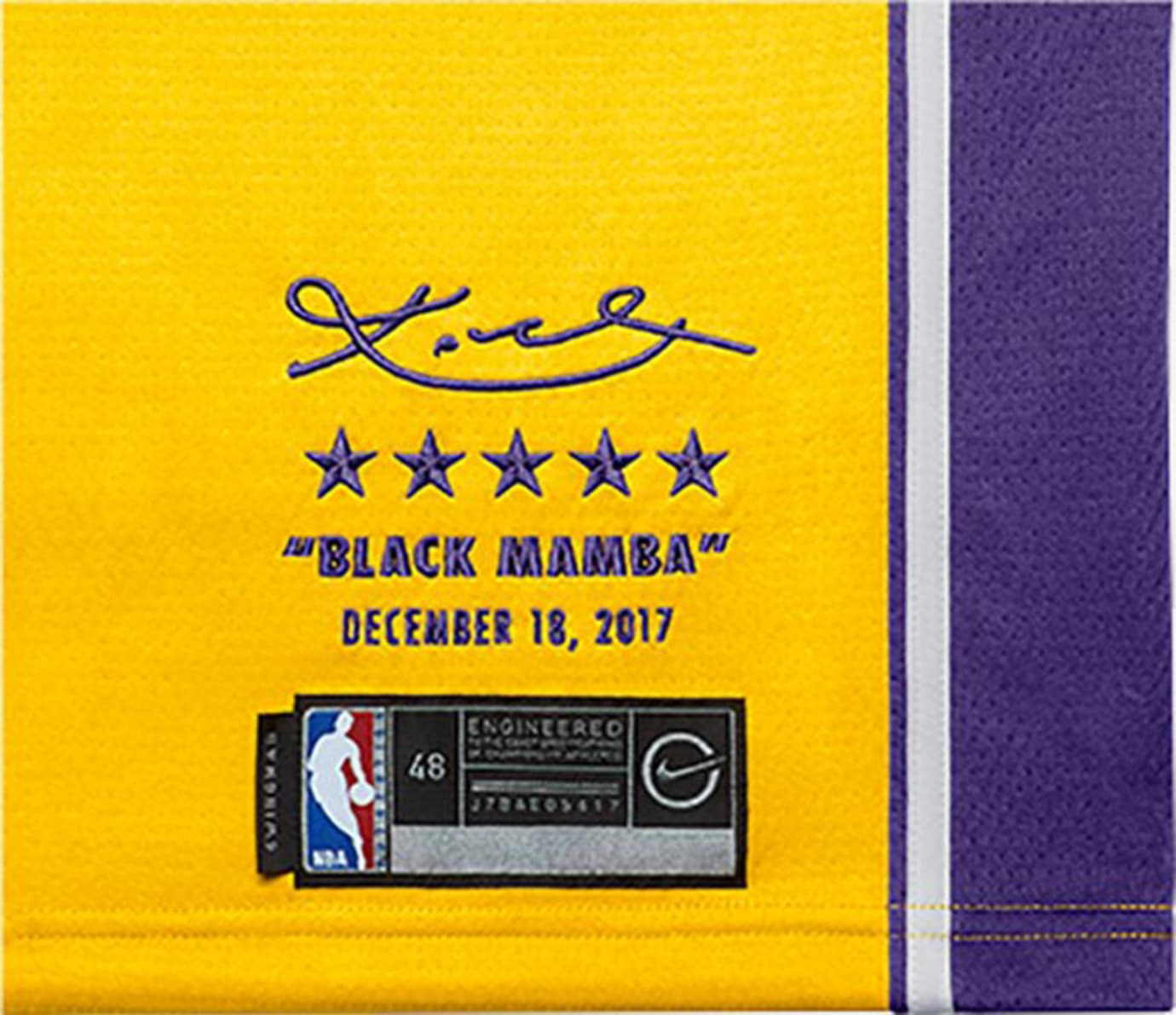 9d8762d58 Nike Kobe Bryant Retirement Lakers Jersey