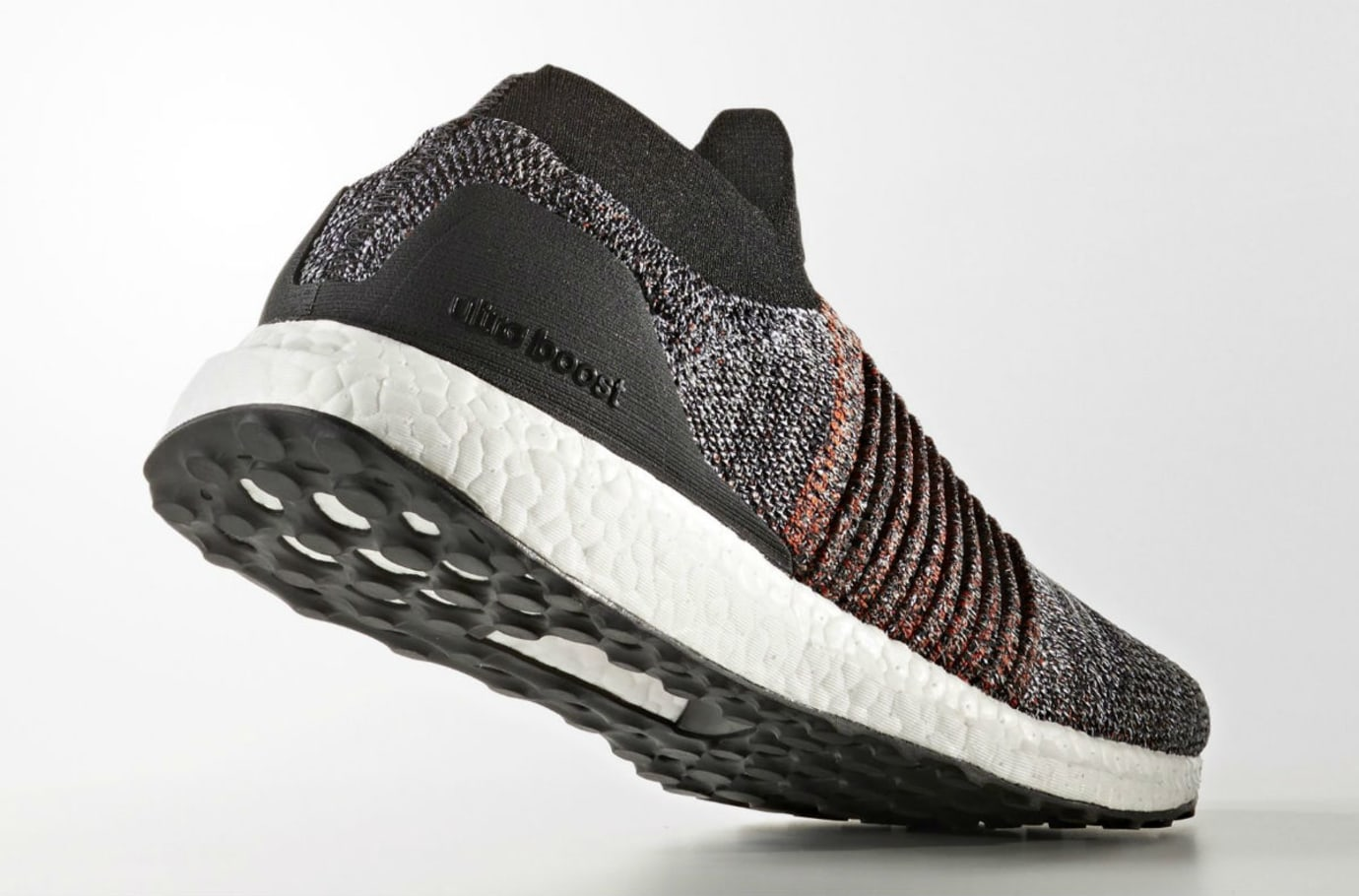 Adidas Ultra Boost Laceless Black White Orange Release Date Lateral S80769