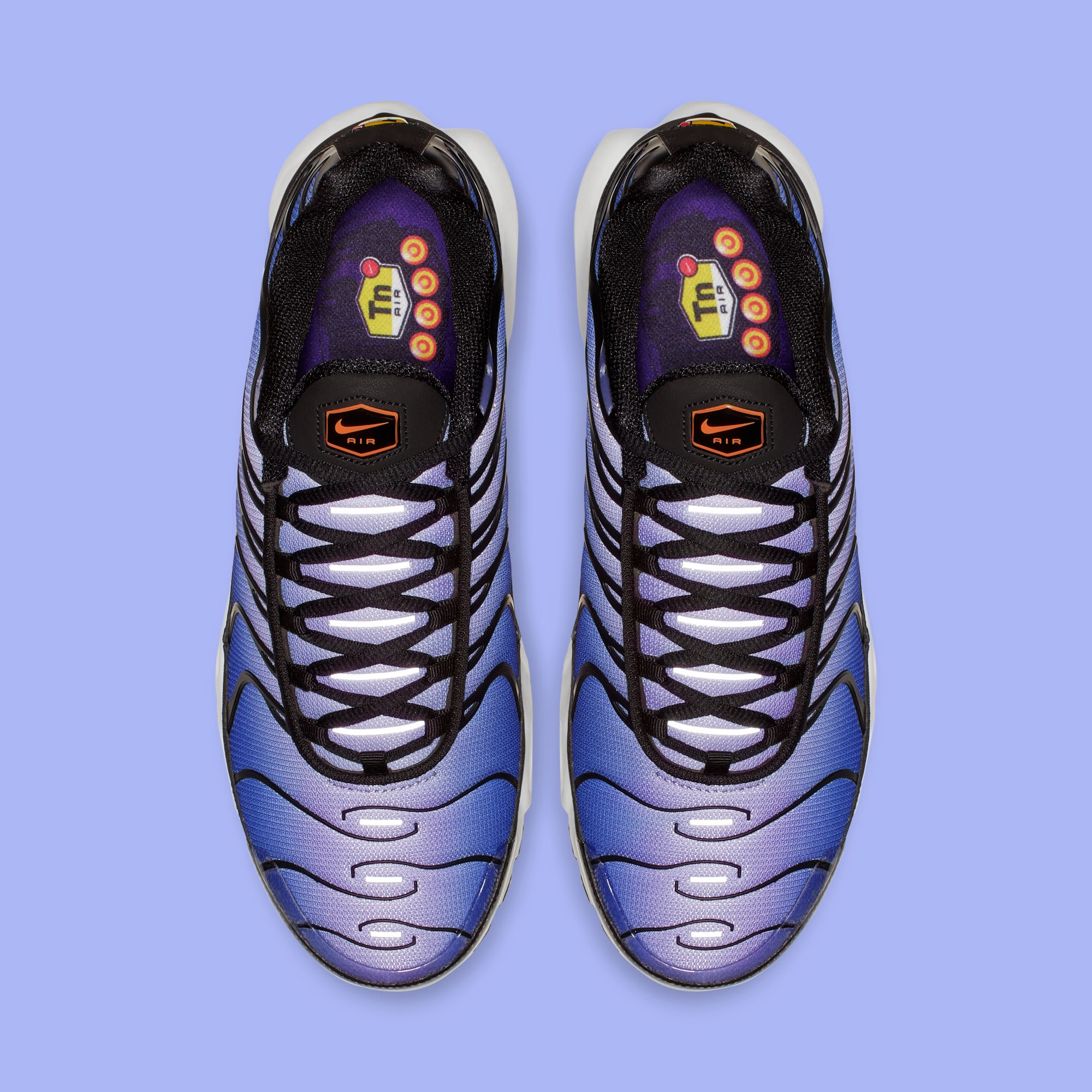 Nike Air Max Plus 'Black/Total Orange-Voltage Purple' BQ4629-002 (Top)