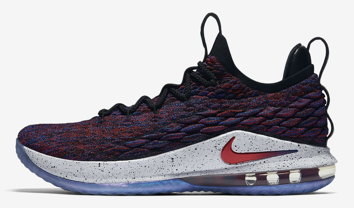 Nike LeBron 15 Low Multicolor University Red Black White Release Date AO1755-900 Profile