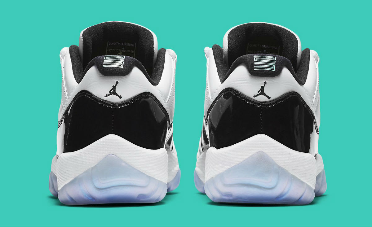 sports shoes f2f0c f4d72 ... buy image via nike air jordan 11 xi low emerald easter release date  528895 145 heel