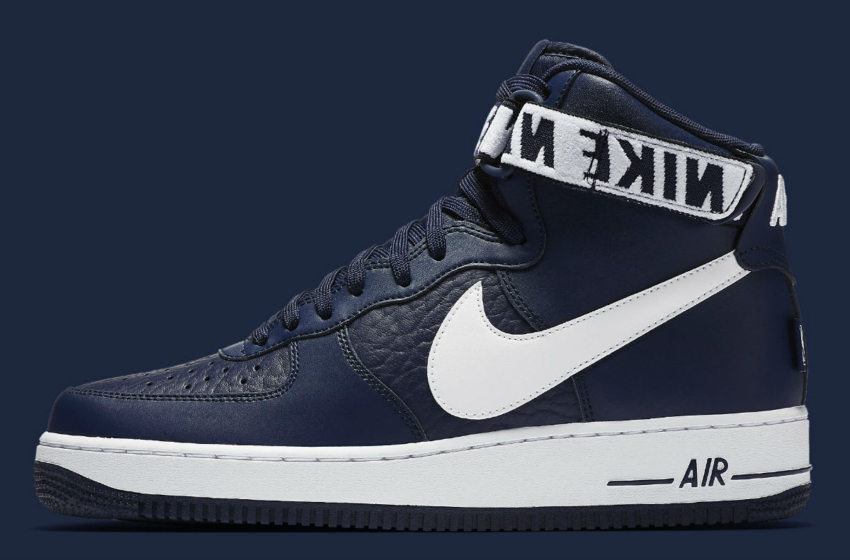 Nike Air Force 1 High NBA Statement Game Navy Release Date Profile 315121-414