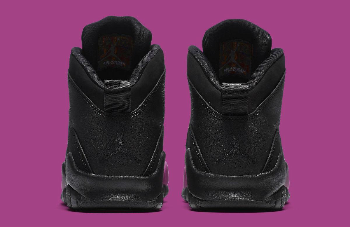 Air Jordan 10 X GS Fuchsia Blast Release Date 487211-017 Heel