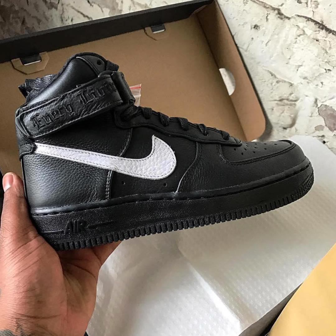 Vlone x Nike Air Force 1 High Black White