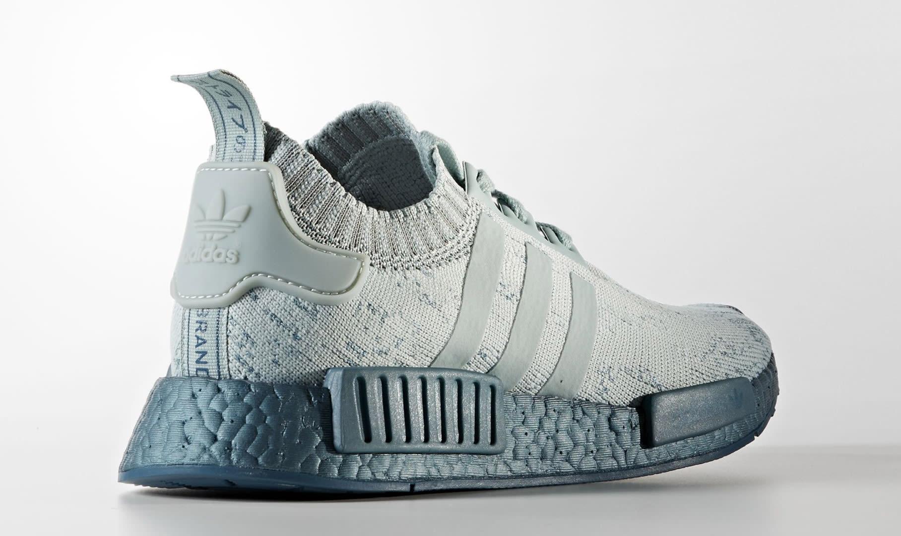 Adidas NMD Blue Grey Glitch Boost CG3601 Heel