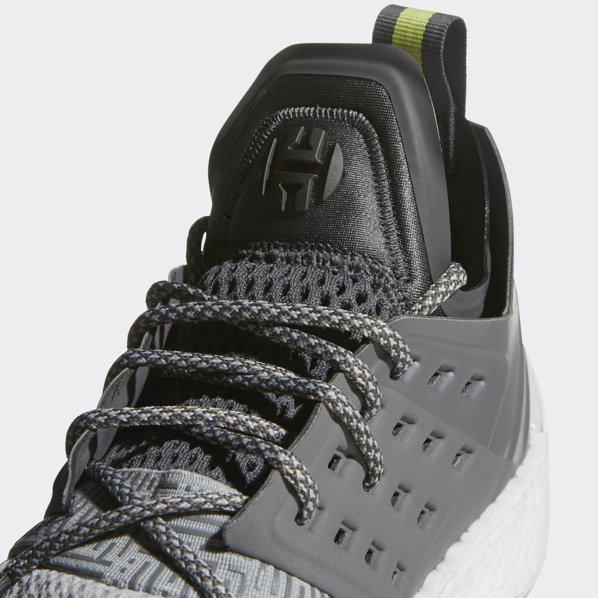 Adidas Harden Vol. 2 Concrete Grey Release Date AH2122 Tongue