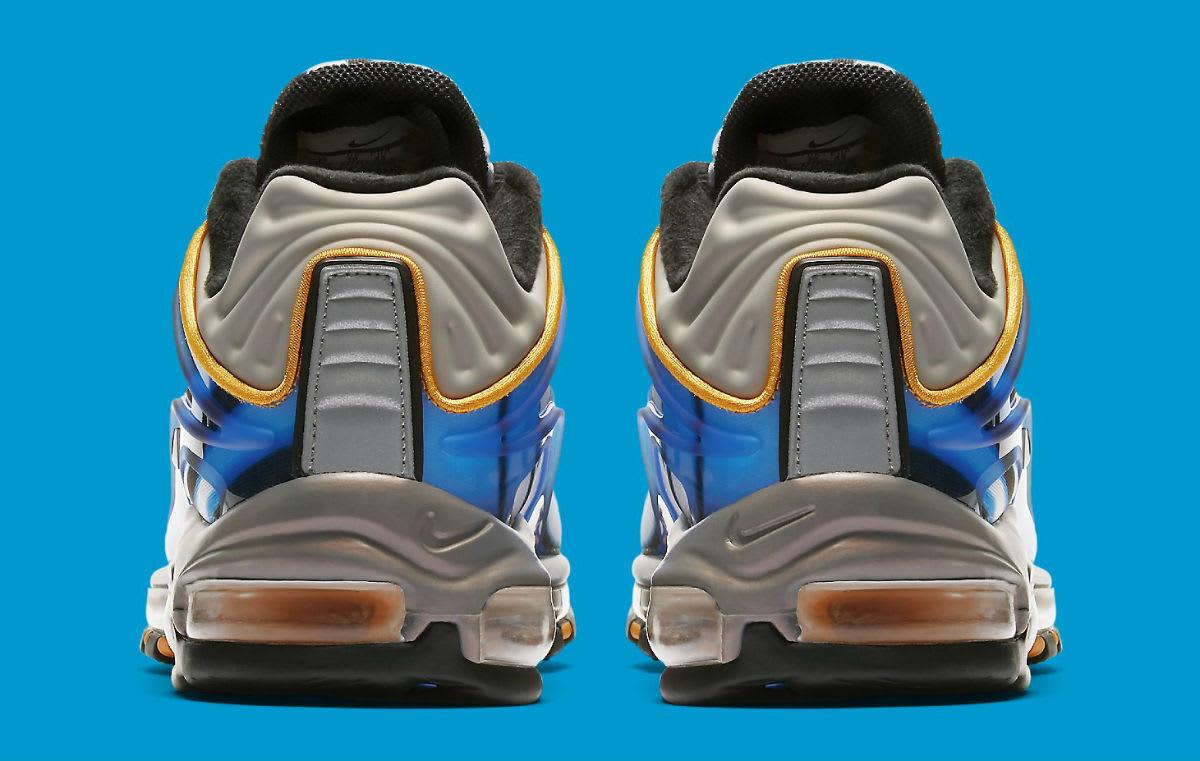 Nike Air Max Deluxe Photo Blue Wolf Grey Orange Peel Black Release Date AJ7831-401 Heel