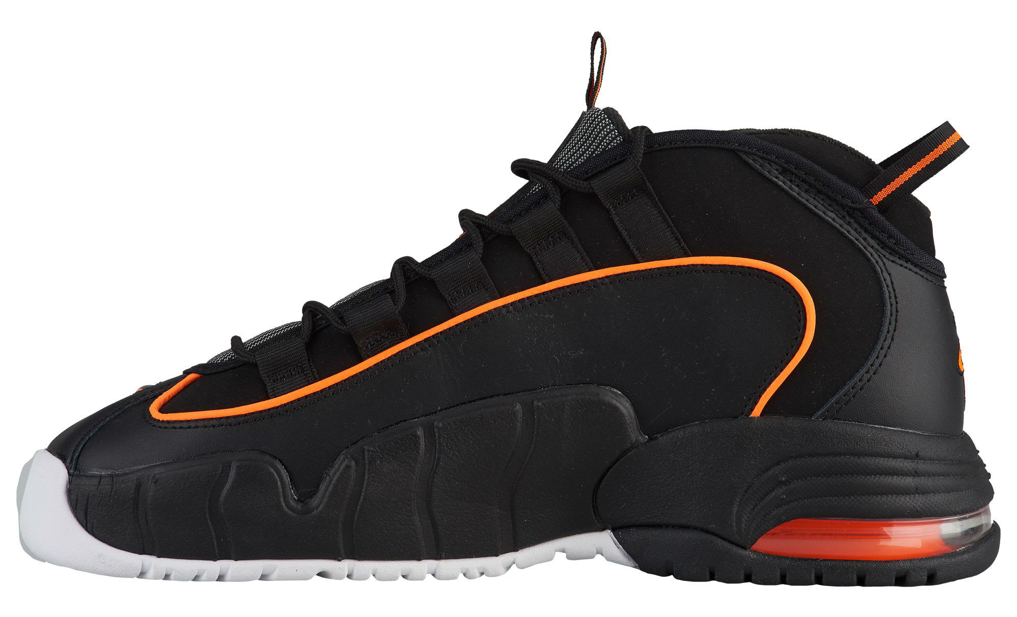 Nike Air Max Penny 1 Black Total Orange White Release Date 685153-002 Medial