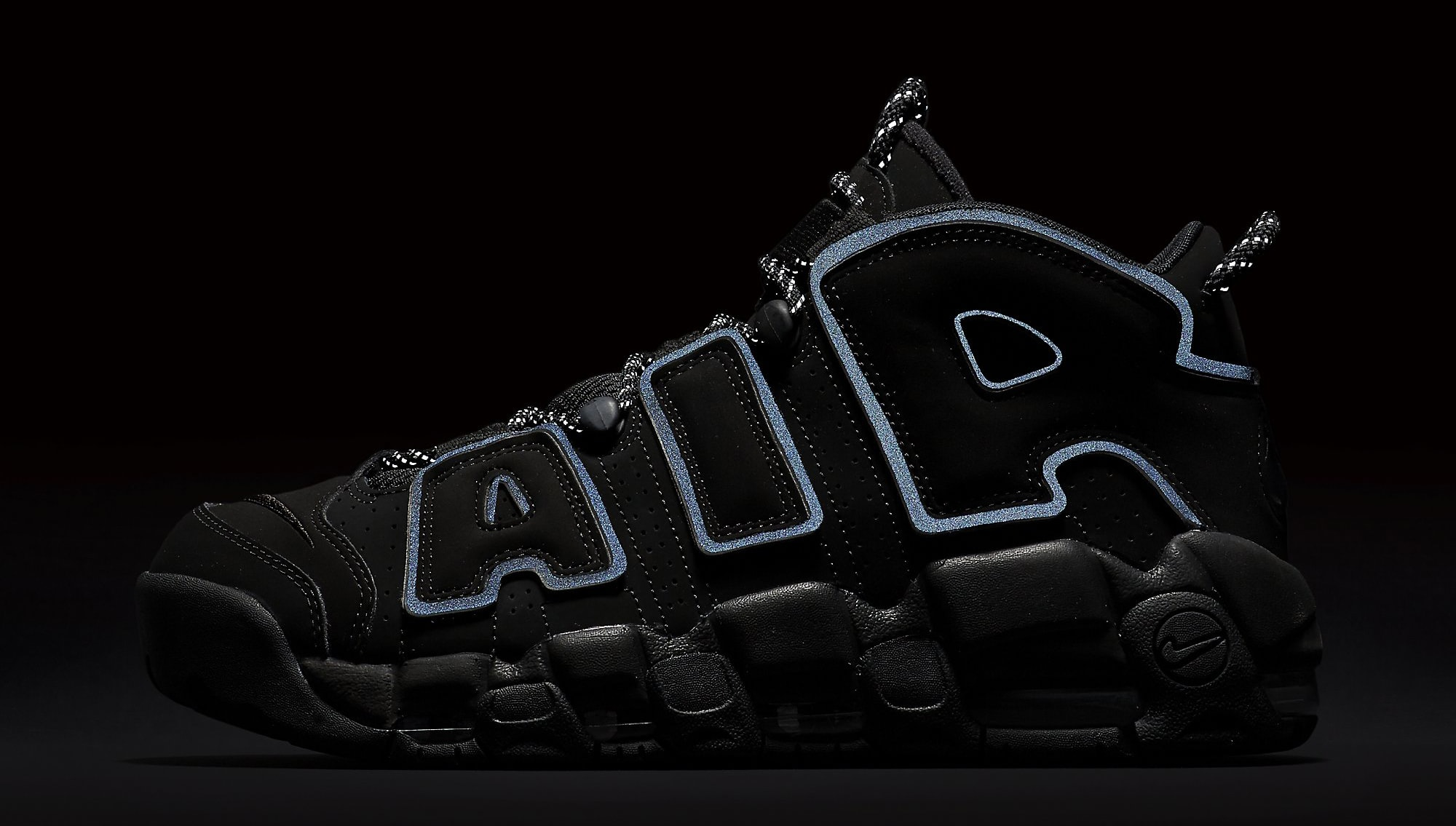 Nike Air More Uptempo Black Reflective 414962-004 3M