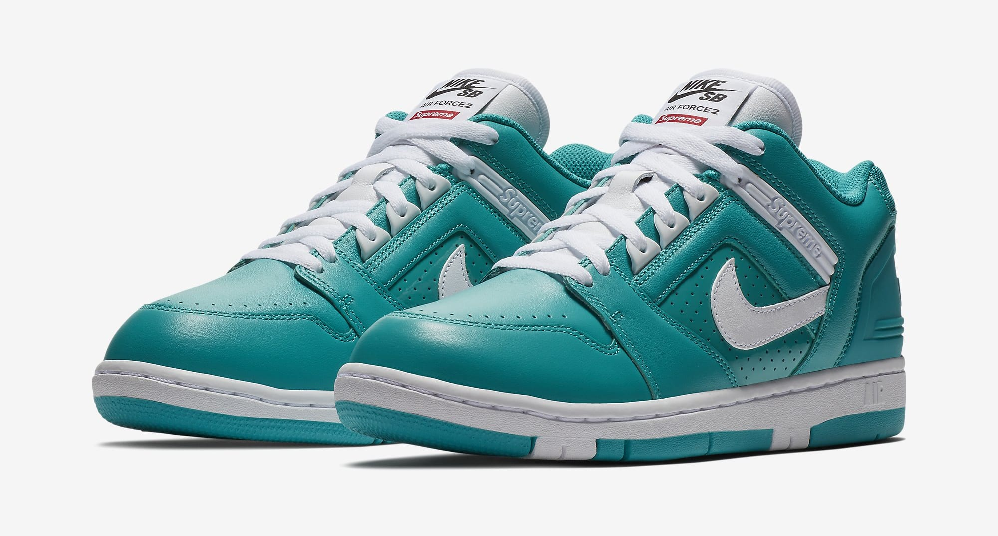Supreme Nike SB Air Force 2 AA0871-313 Teal