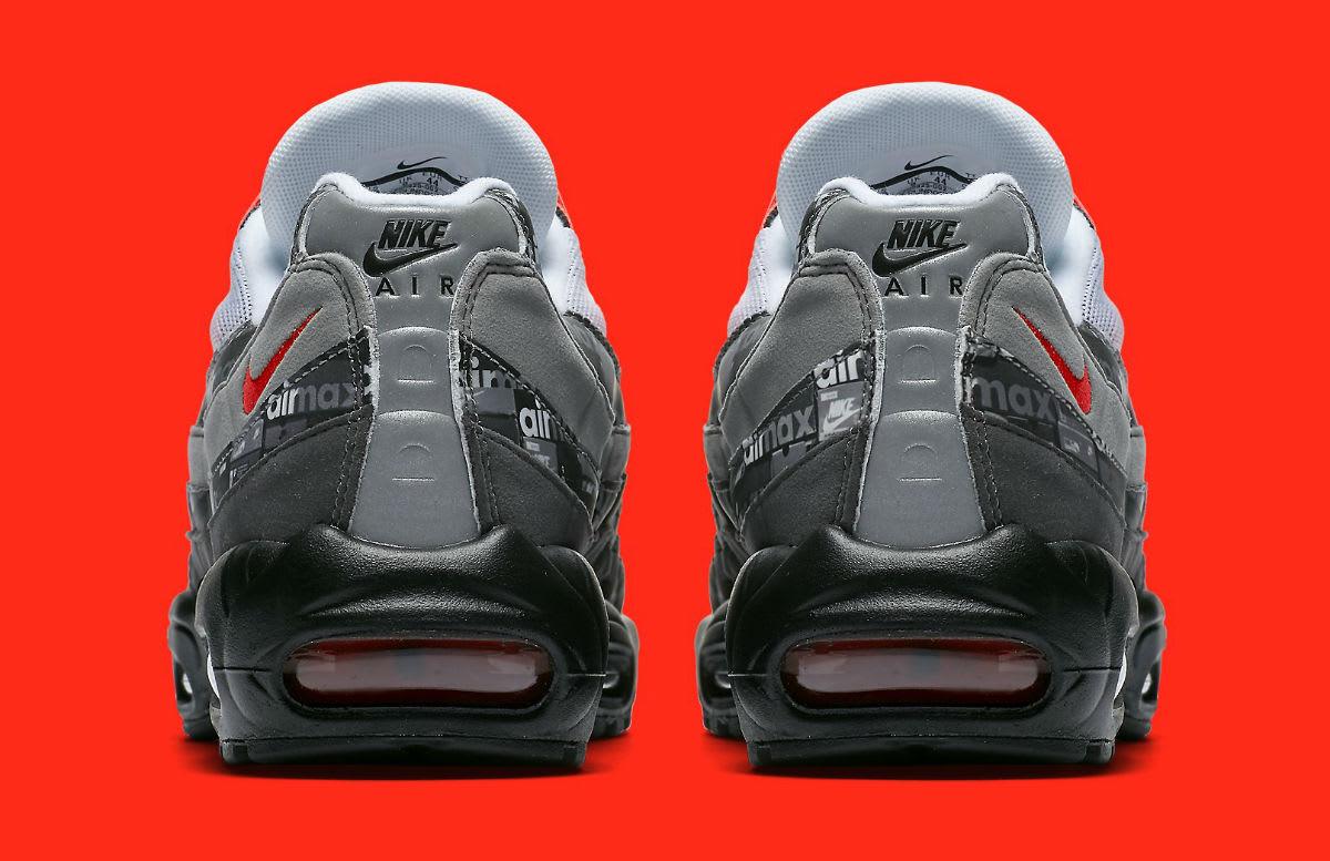 Atmos x Nike Air Max 95 We Love Nike Safety Orange Release Date AQ0925-002 Heel