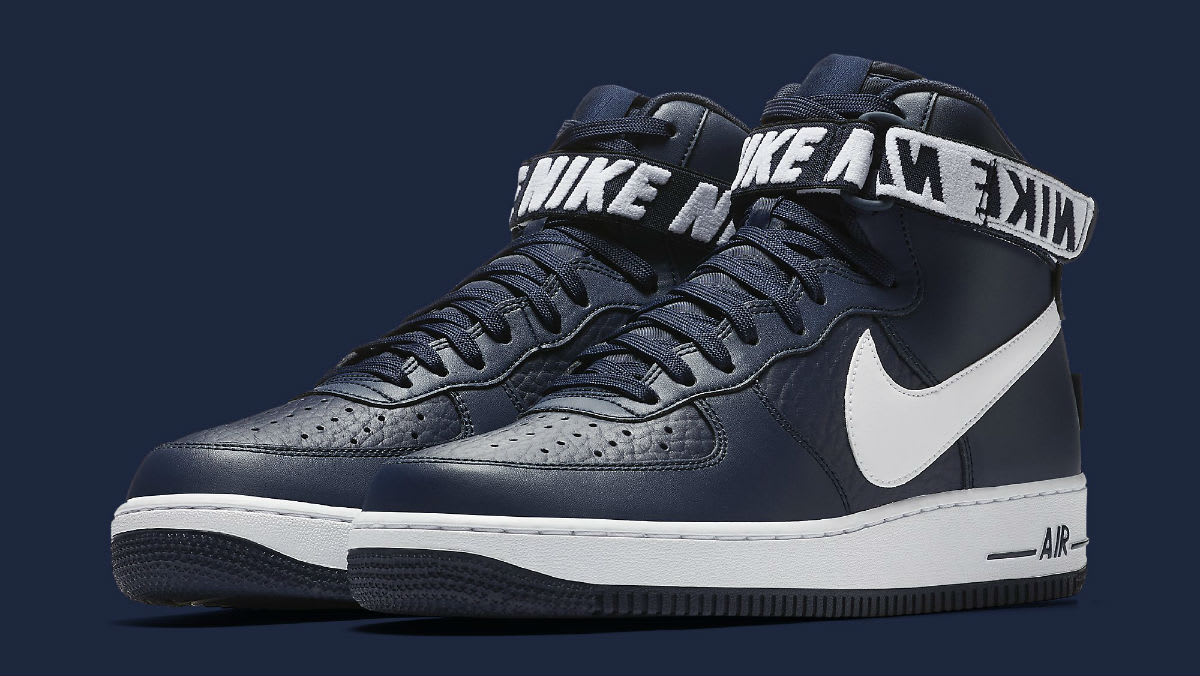 Nike Air Force 1 High NBA Statement Game Navy Release Date Main 315121-414