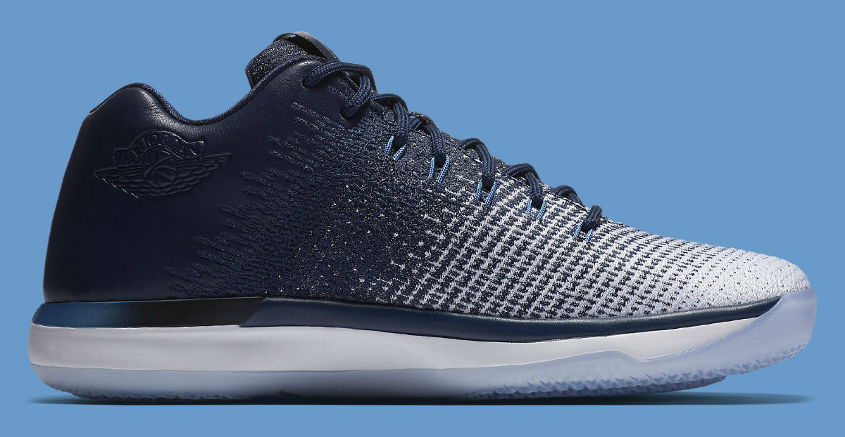 Air Jordan 31 Low UNC Navy Release Date Medial 897564-400