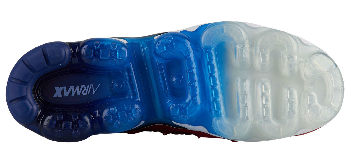 Nike Air VaporMax Plus USA Red White Blue Release Date 924453-601 Sole