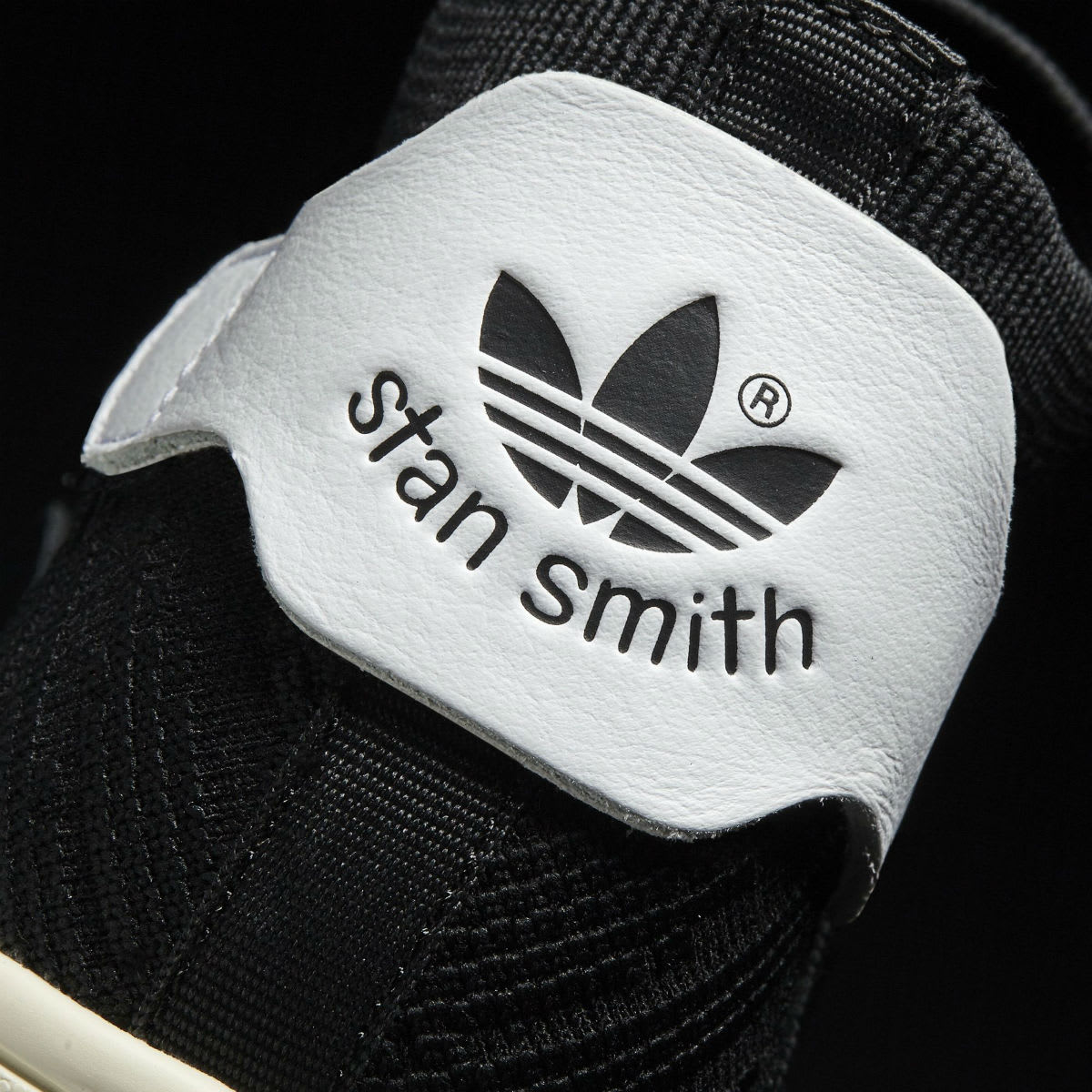 Adidas Stan Smith Sock Primeknit Sock Black Heel