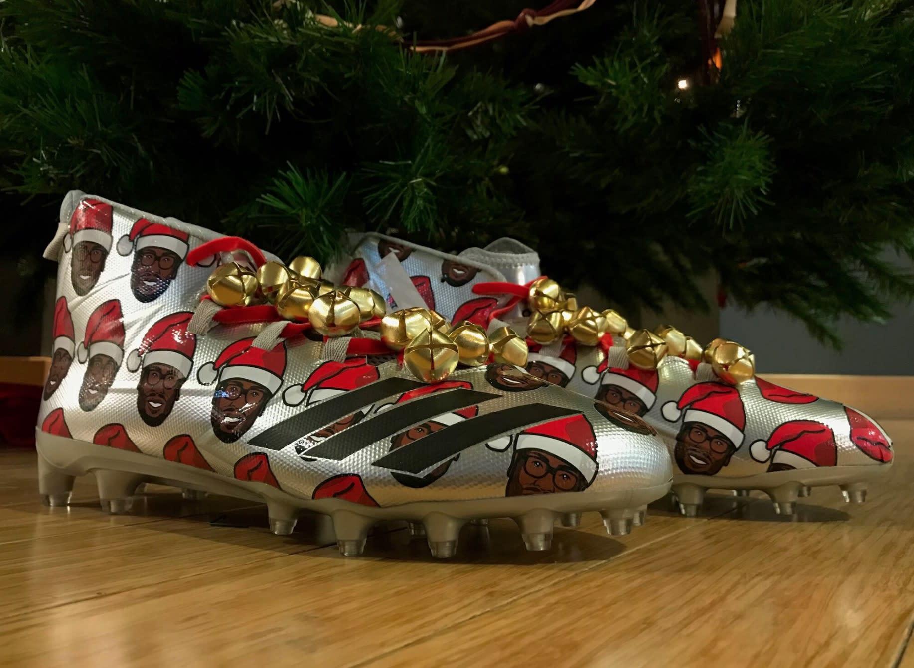 Von Miller Adidas Freak Christmas Cleats