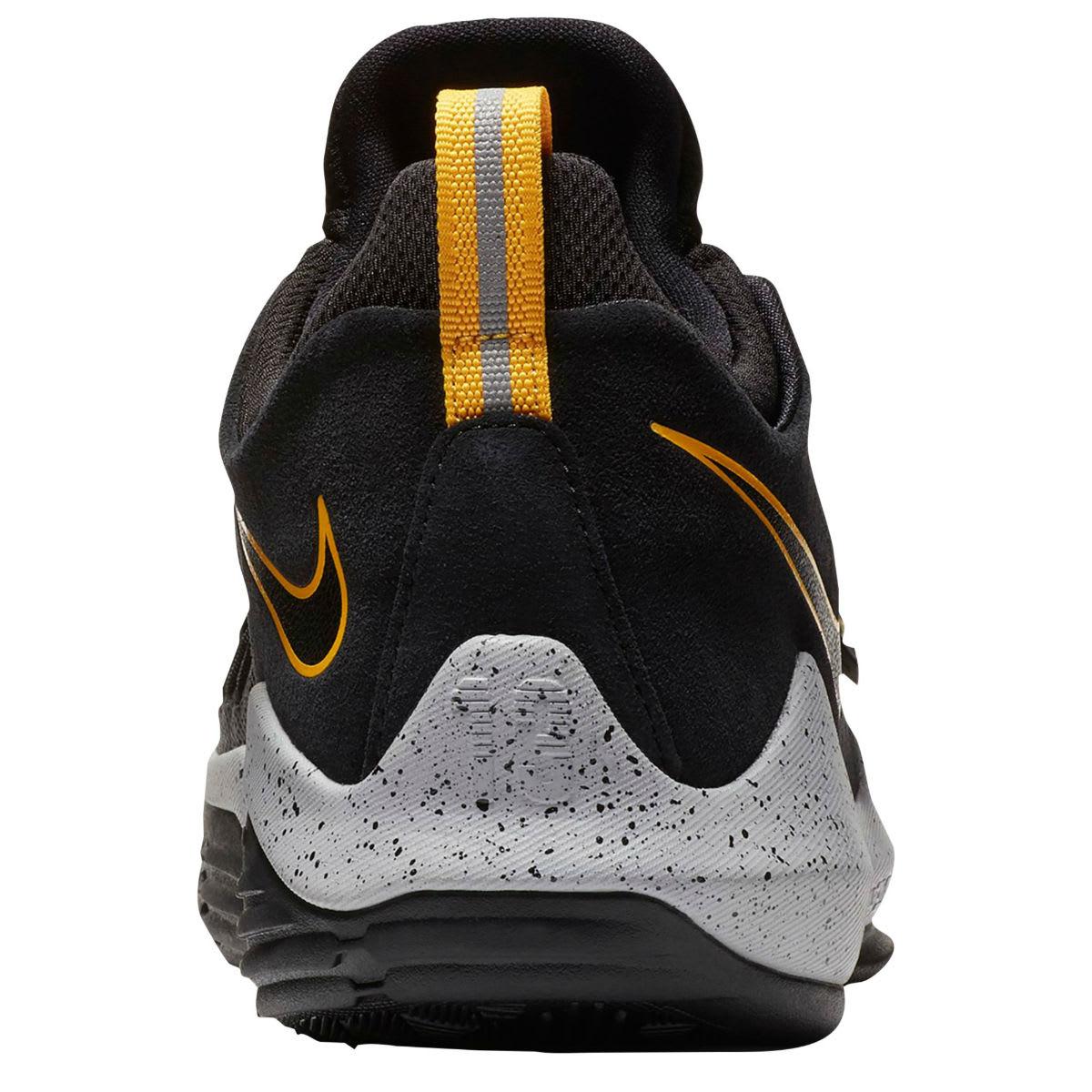 Nike PG1 Black University Gold Wolf Grey Release Date 878627-006 Heel