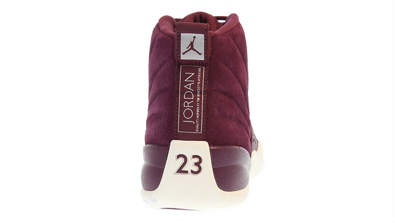 Air Jordan 12 Bordeaux Release Date Heel 130690-617