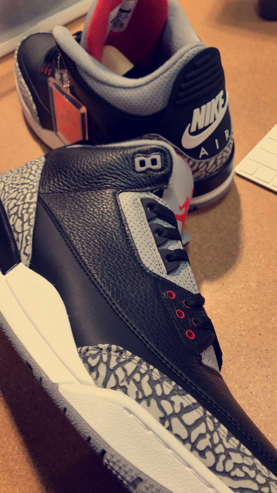 b491cb13460ac5 reduced j.r smith rocking air jordan black cement iii sneakers e793f 9d56c   where can i buy air jordan 3 black cement 2018 release date 854262 001  73f94 ...