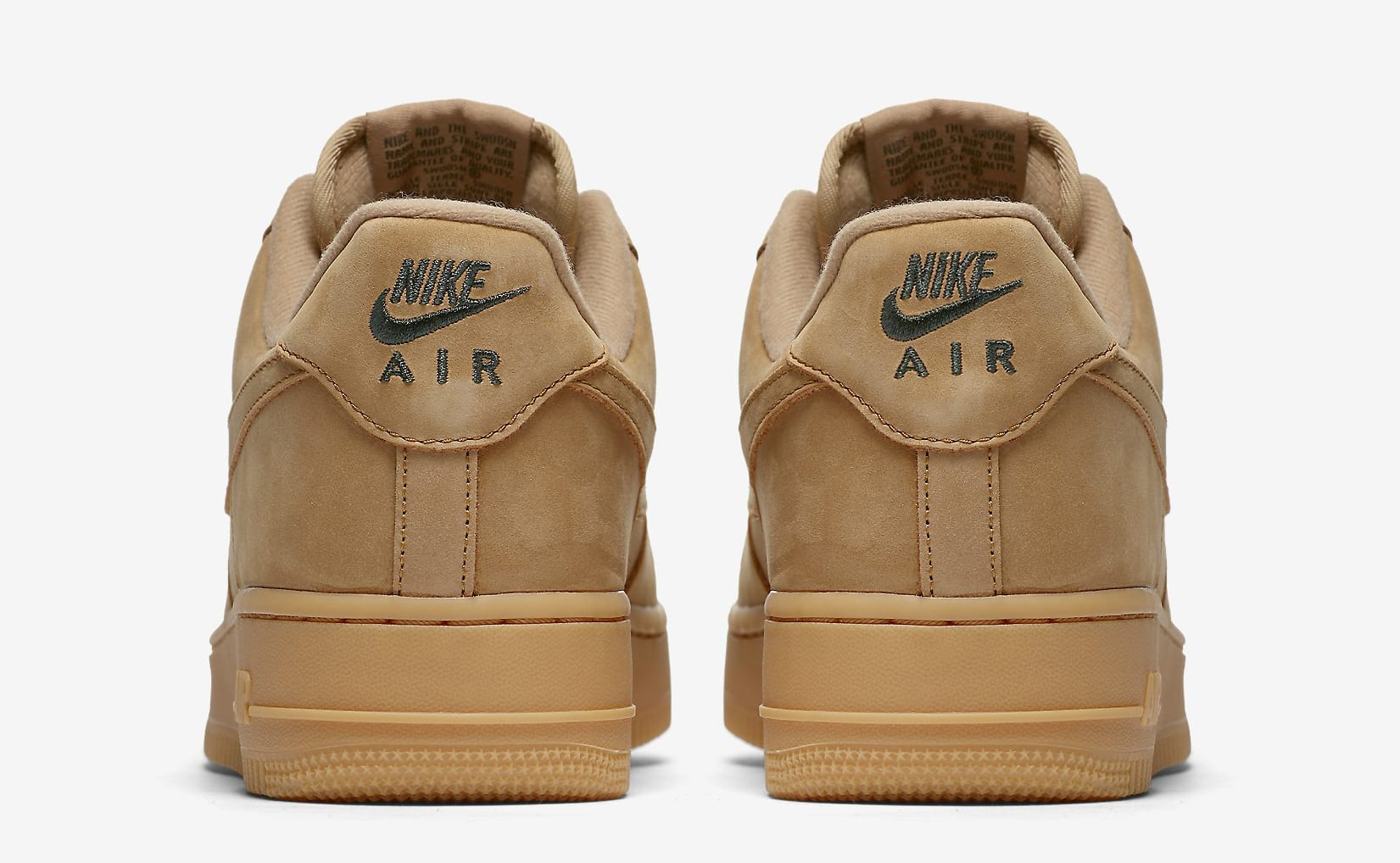 Wheat Nike Air Force 1 Low AA4016-200 Heel