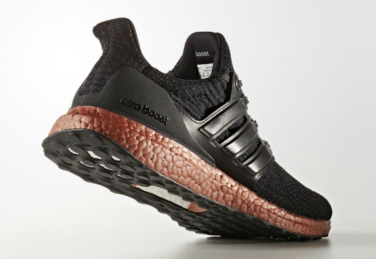Adidas Ultra Boost 3.0 Black Bronze Sole Release Date Lateral