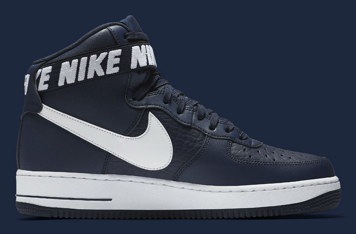 Nike Air Force 1 High NBA Statement Game Navy Release Date Medial 315121-414