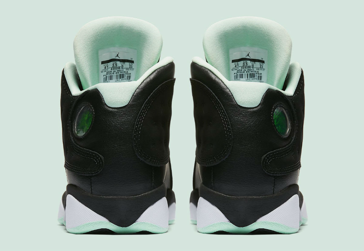 Air Jordan 13 Mint Foam Release Date Heel 439358-015