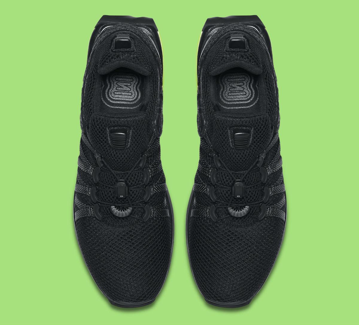 Nike Shox Gravity Luxe Black Green Strike Release Date AR1470-003 Top
