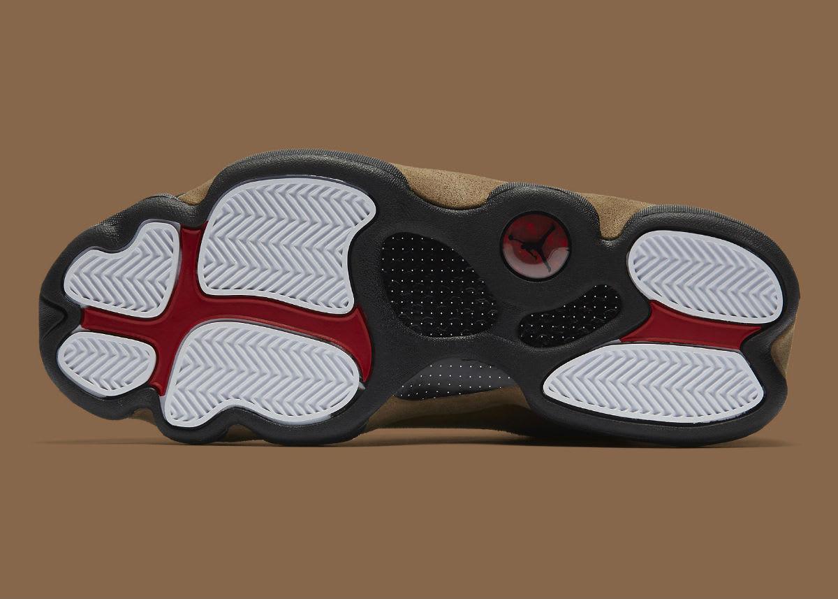 Air Jordan 13 XIII Olive Release Date 414571-006 Sole