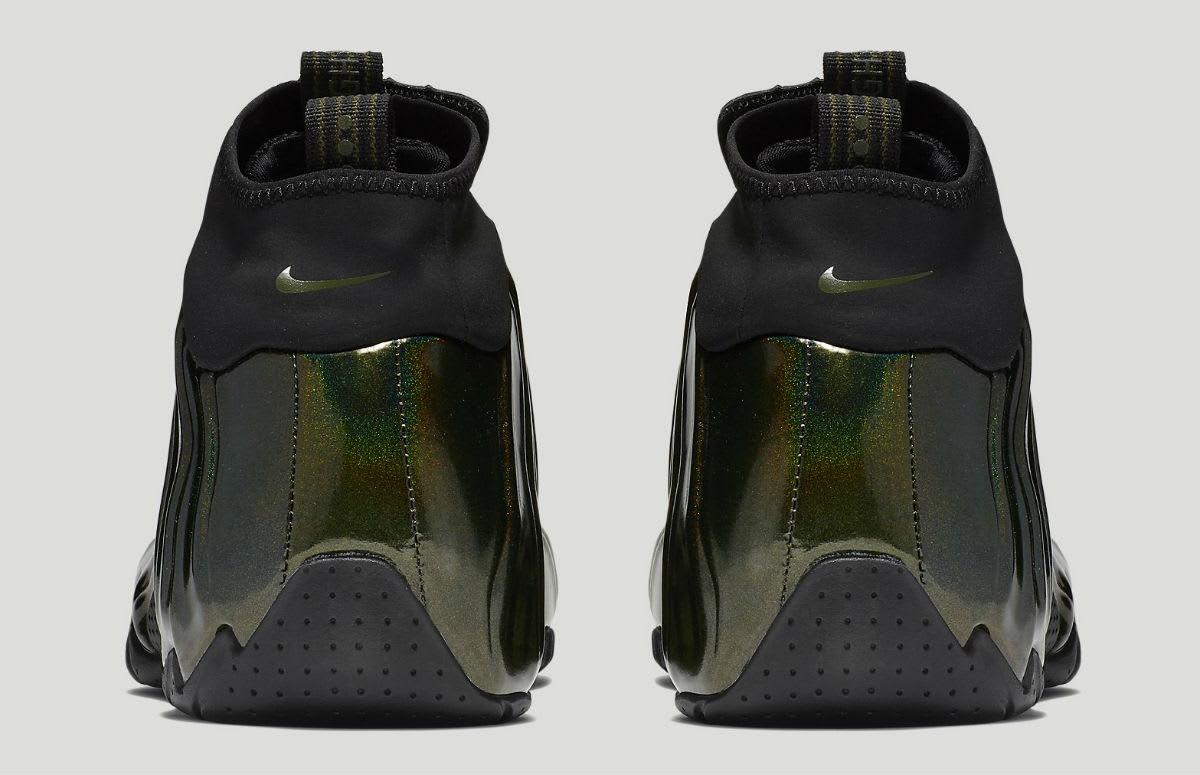 Nike Air Flightposite Legion Green Release Date AO9378-300 Heel