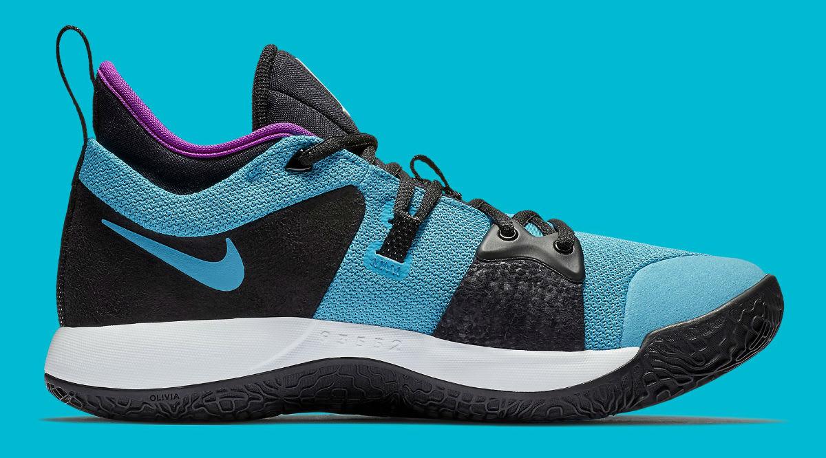 Nike PG 2 South Beach Blue Lagoon Release Date AJ2039-402 Medial