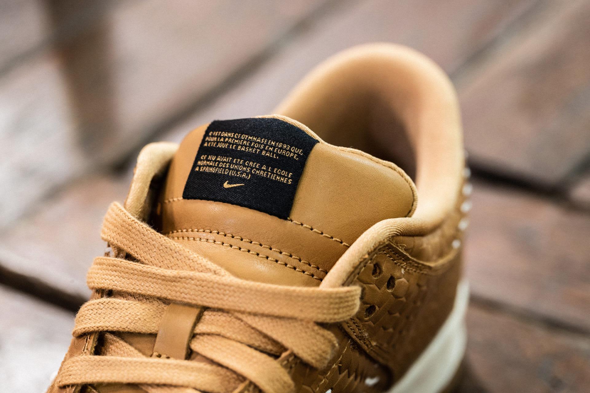 Nike Dunk Low PRM QS Paris 'Elemental Gold' AH1072-700 (Tongue)