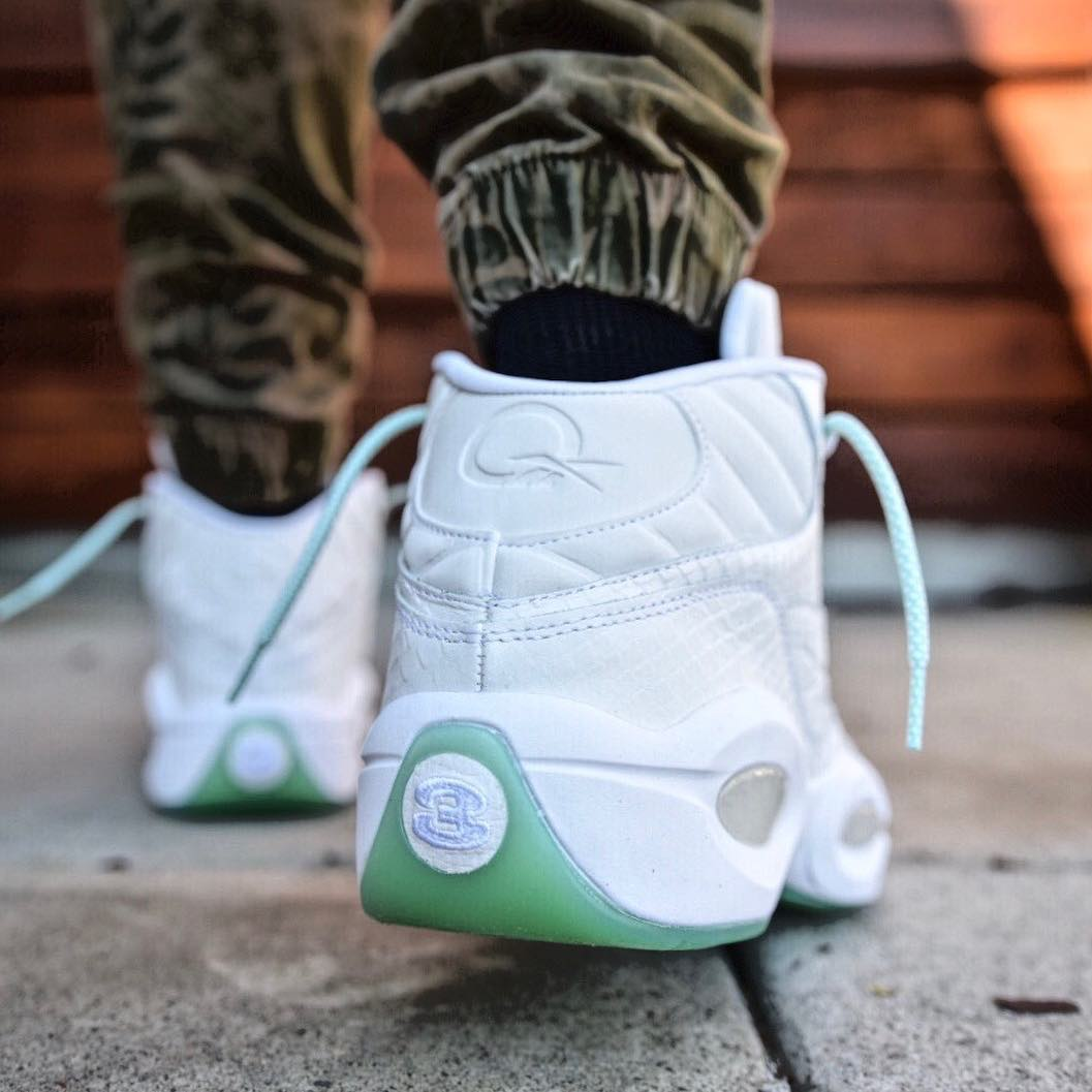 Reebok Question Mint Glow Release Date CM9417 Heel