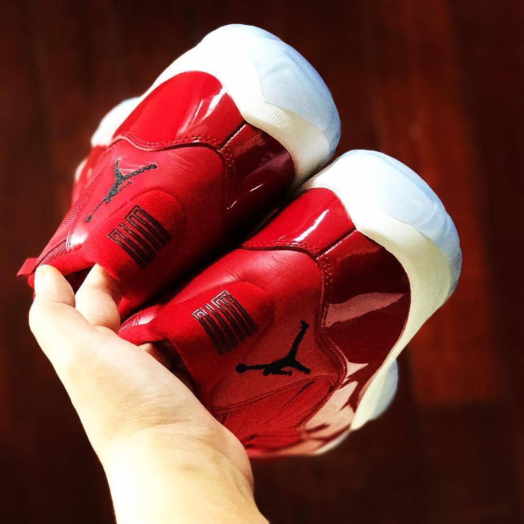 Air Jordan 11 Gym Red Release Date Back 378037-623
