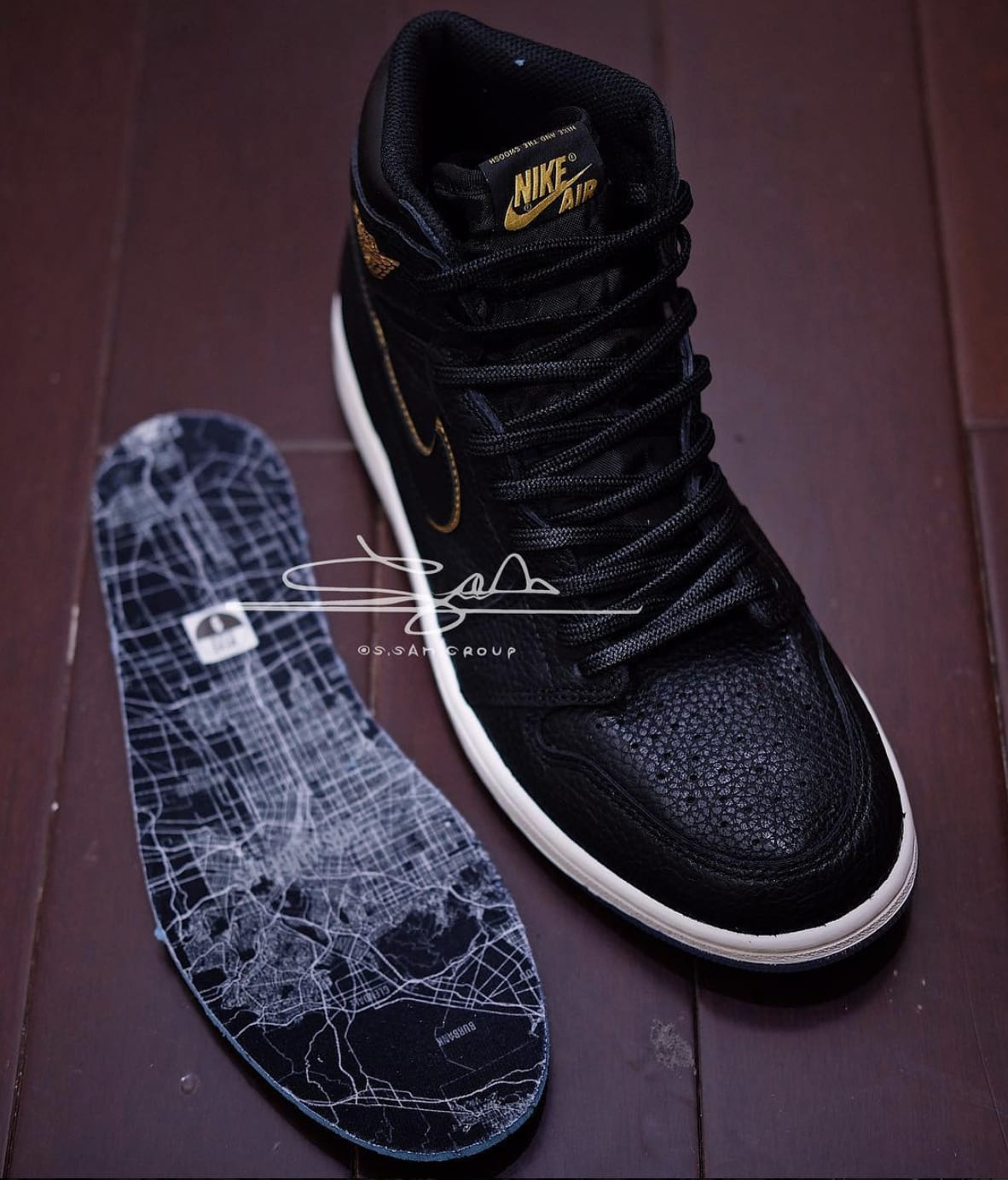 2018 Men Air Jordan 1 All Star Black Gold Shoes