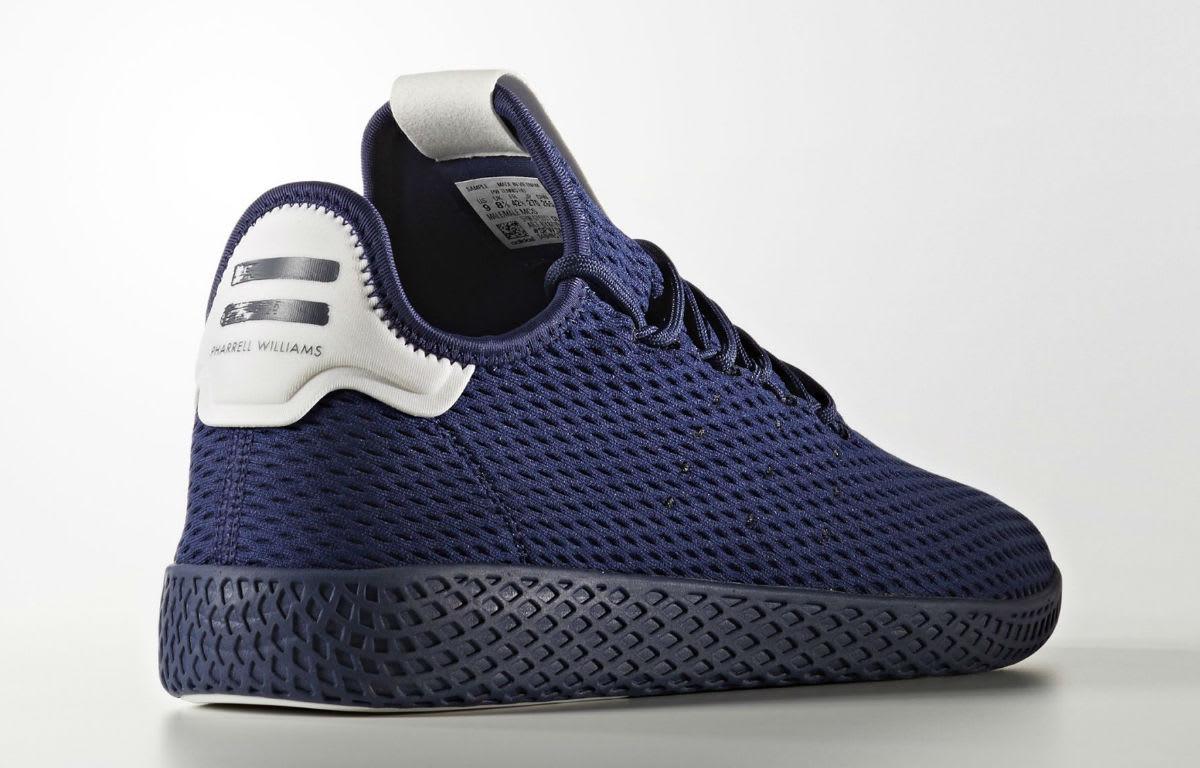 chanel x adidas. pharrell x adidas tennis hu navy release date lateral chanel