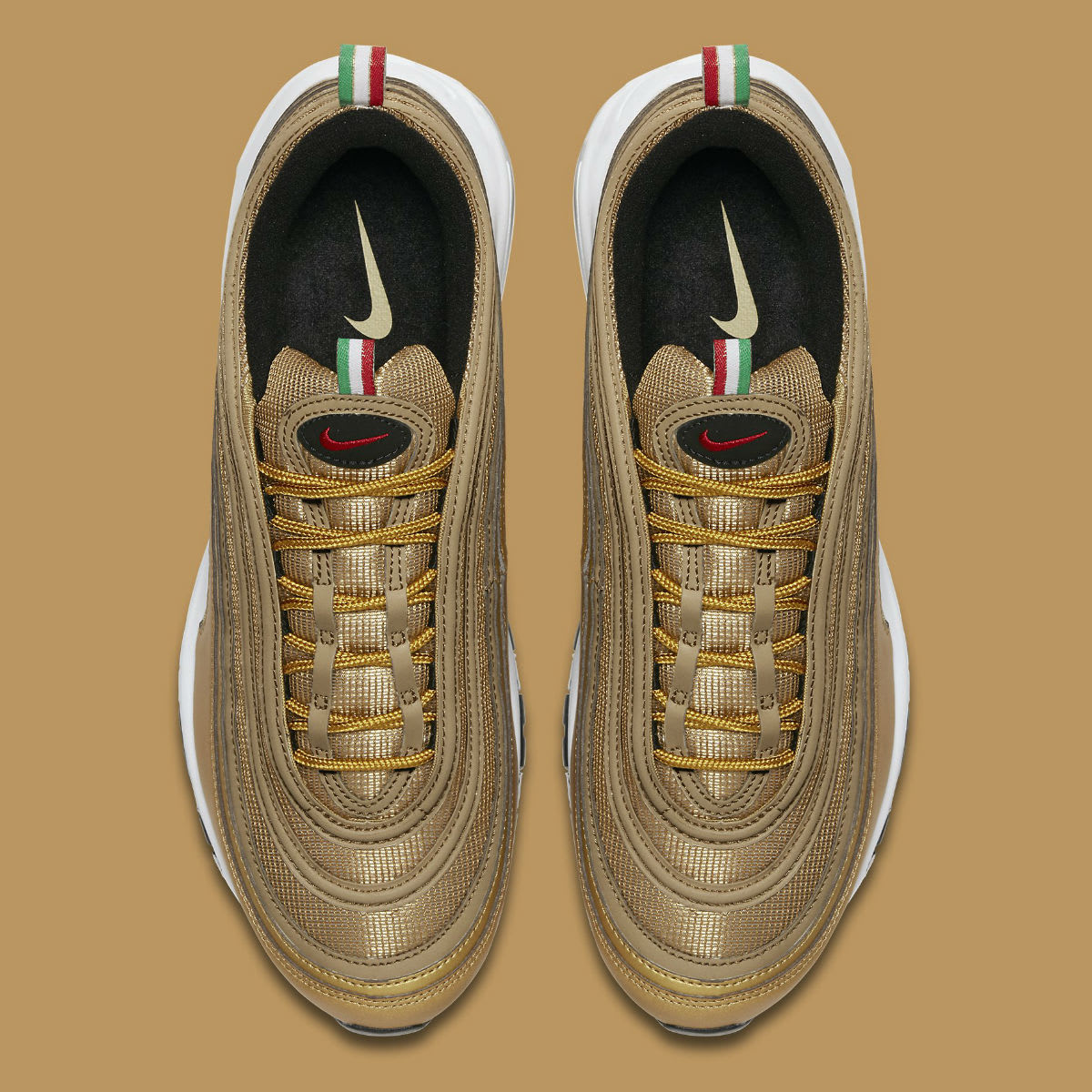 Nike Air Max 97 Italy Flag Gold Release Date AJ8056-700 Top