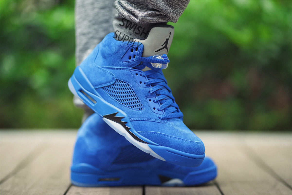 740743d3950f ... official store air jordan 5 blue suede release date on foot 136021 401  1 5030d 528ef