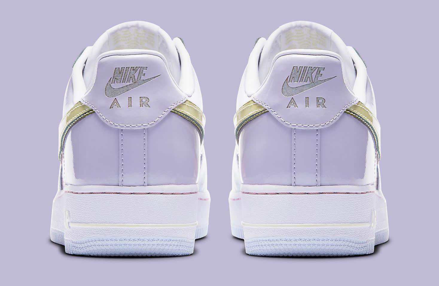 cd0171763e6735 Color TitaniumLime Ice Image via Nike Easter Egg Nike Air Force 1 2017 Heel  . ...