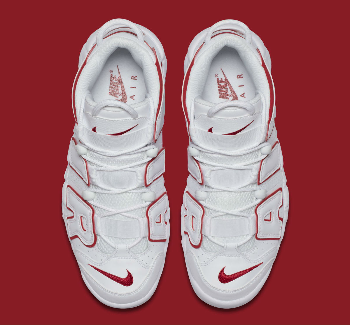 Nike Air More Uptempo Varsity Red Release Date 921948-102 Top
