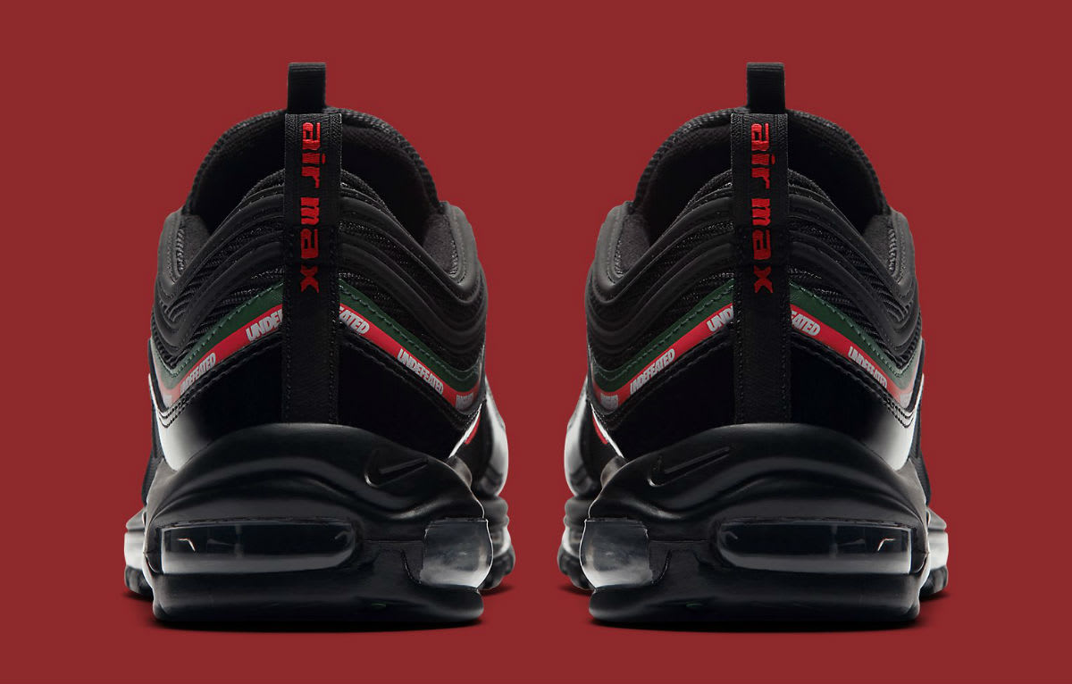 Undefeated x Nike Air Max 97 Black Release Date Heel AJ1986-001